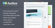 Author WordPress Theme by mikemcalister on Themeforest