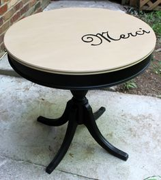 Merci Drum Table  By Revived and Renewed Furniture www.facebook.com/RevivedAndRenewed
