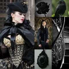 Beautiful Pictures with a English, Victorian, Scottish and Irish twist vivtorian fashion black love brooch. www.ouwbollig.eu  https://www.facebook.com/ouwbollig.eu