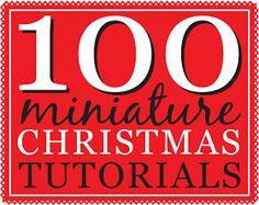 100 Miniature Christmas Tutorials How-tos and tutorials for creating Christmas-theme dollhouse miniatures. Dollhouse Miniature Tutorials, Miniature Crafts, Miniature Christmas, Christmas Minis, Miniature Houses, Diy Dollhouse, Miniature Dolls, Dollhouse Miniatures, Victorian Dollhouse