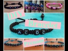DIY: Bracelet prénom| with your name |اسوارة عليها اسمك - YouTube