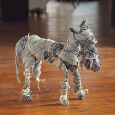 This tutorial will show you how to create your own whimsical imaginary animal using wire and fabric scraps.