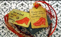 How to make a ruby slippers stamp.Great idea.