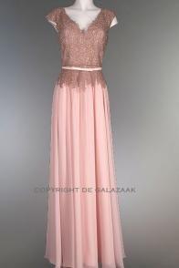 Roze galajurk met feestelijke top 2241
