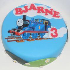 A Thomas the tank engine (Thomas de trein) cake!