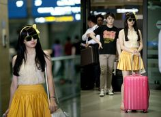 Still cuts of miss A Suzy's airport fashion in 'Big' #allkpop #kpop #missA