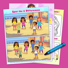 Your kids won't be bored if Dora and her friends are at their fingertips. They can help Pablo kick a ball through the maze to reach Alana, then find the w. 1st Birthday Parties, 3rd Birthday, Dora And Friends, Friend Activities, Diy Baby Gifts, Little People, Shower Gifts, Packing, Family Guy