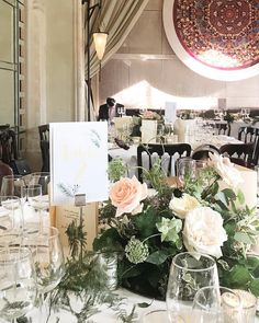 Floral centrepieces, which has been used as aisle liner earlier in the day FLOWERS by EiLeen Ting ( Floral Centrepieces, Centerpieces, Table Decorations, Little Miss, Photo And Video, Videos, Flowers, Room, Photos