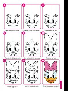 learn to draw daisy duck images - Google Search