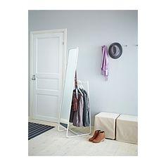 KNAPPER Gulvspeil IKEA Trøtt om morgenen? Du kan spare tid ved å henge frem neste dags antrekk bak speilet.