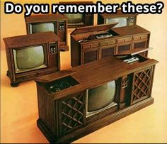 We had the first one and the last one. The first one I can remember mom praying her Jane fonda workout records on one end and the radio was on the other side of the tv. She turned the radio on every morning as we got ready for school.