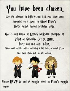 Wizards Party Harry Potter Party Free Printables Harry - Birthday invitations harry potter printable