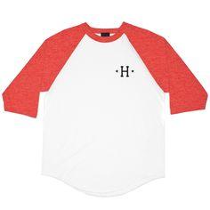 886cda1e Huf Swing Kings Raglan red Cute Crop Tops, White Tops, Red And White,