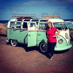 Mom goes on vacation in HI and sends me this pic. Nice #bus #splitwindow #vw #vanagon #awesomelyweird #dadventure #momandadventure