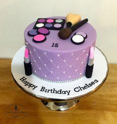 Birthday Cake Cookies, Ballet Birthday Cakes, Spa Birthday Cake, Makeup Birthday Cakes, Birthday Cakes For Teens, Zoe Cake, Lipstick Cake, Birthday Cake Girls Teenager, Fashionista Cake