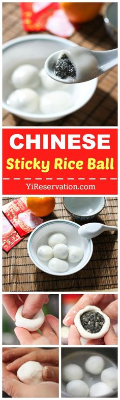 Tang Yuan or Chinese glutinous (sticky) rice balls are a traditional chinese snacks served around holidays such as Chinese New Year. This recipe shows the step by step instructions on now to make tang yuan with black sesame filling.