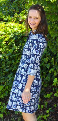 Lizzy's Rosa shirt dress - sewing pattern by Tilly and the Buttons Shirt Dress Pattern, Tilly And The Buttons, Dress Sewing, Vintage Inspired, Sewing Patterns, Denim, Shirts, Inspiration, Beautiful