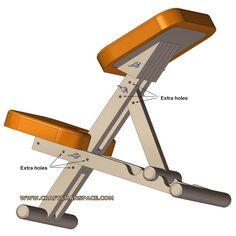 Wooden kneeling chair - Adjustment