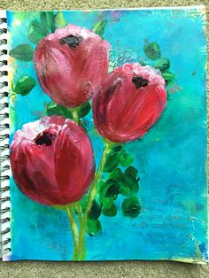 Practicing in the journal. Acrylics. by Betsy Walcheski. Art by Bets