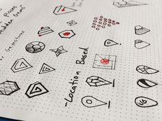 Gem Logo Sketches by Alan Gi