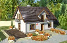 Projekt domu - Dom przy Alabastrowej 20 115.00m² - GaleriaDomow.pl Modern Bungalow House, Attic House, Good House, Concept Home, Stone Houses, Home Fashion, Future House, Gazebo, House Plans