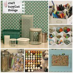 Craft Supplies Storage - Organize and Decorate Everything