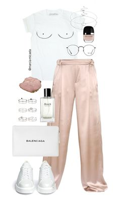 """""""• BLUSH PINK •"""" by marcia-micaela ❤ liked on Polyvore featuring Juan Carlos Obando, Robert Clergerie, Ray-Ban, Balenciaga, Miss Selfridge, Bobbi Brown Cosmetics and Accessorize"""