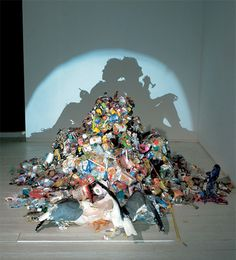 So cool! Shadow Sculptures by Tim Noble and Sue Webster.