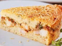 Torta de batata e camarão