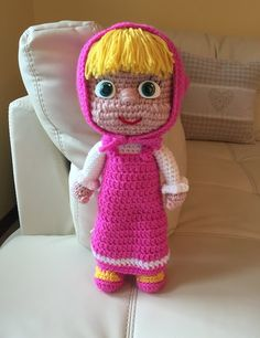 Masha Amigurumi seconda parte/How to crochet Masha Amigurumi