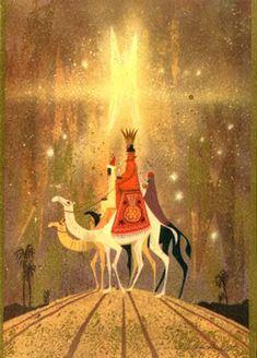Ralph Hulett Christmas card  Regal Post Modern Wise Men