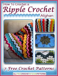 Learn how to crochet a ripple crochet afghan with these free crochet eBook!