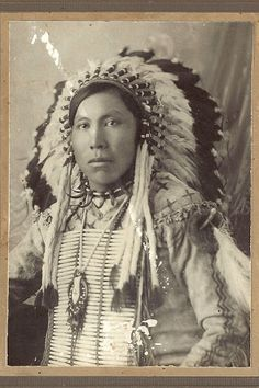 Simon First Shoot - Assiniboine - circa 1912
