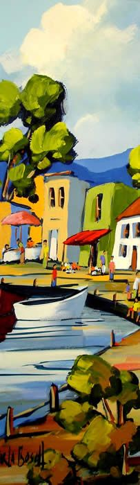 Artwork of Carla Bosch exhibited at Robertson Art Gallery. Original art of more than 60 top South African Artists - Since Landscape Art Quilts, Landscape Artwork, Colorful Paintings, Cool Paintings, Pictures To Paint, Art Pictures, Cityscape Art, Fauvism, Art For Art Sake