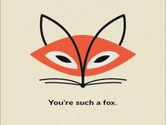 Valentine's Day Card - Fox  by Dever Elizabeth Thomas