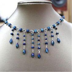 DIY Bijoux How to make Family Jewels Necklace #wire #Jewelry #Tutorial