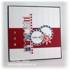Settin Sail photopolymer stamp set by Stampin' Up!