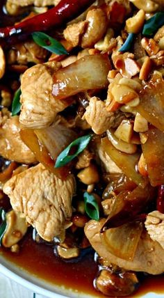 Thai Chicken with Cashews ~ It is the single most delicious dish on the planet!