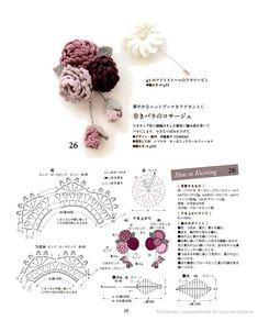 Watch The Video Splendid Crochet a Puff Flower Ideas. Wonderful Crochet a Puff Flower Ideas. Col Crochet, Crochet Brooch, Crochet Diy, Crochet Motifs, Crochet Flower Patterns, Crochet Diagram, Crochet Chart, Irish Crochet, Crochet Flowers