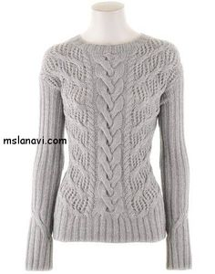 Ажурный пуловер спицами от Iris Von Arnim