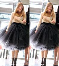 2016 Nouvelle Mode Dernières Créations Femme 5 Couches Tulle Satin jupe Longueur Au Genou Solide Couleur Naturelle robe de Bal Tutu Jupe femmes(China (Mainland))