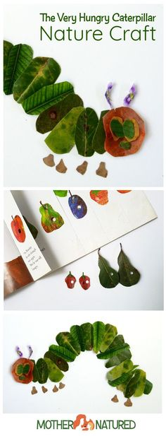 The Very Hungry Caterpillar Nature Craft | Fall Craft | Leaf Craft | Also great for toddlers.