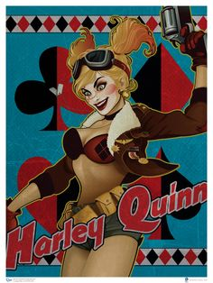 Show Your Love For DC Comics Heroines With These Dreamy 1940s Pin-Ups! Harley Quin