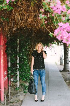 Jeans and a Tee styled by Jen Pinkston | photo by Mary Costa for Camille Styles