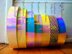 ❈ Full Selection, Apparel, Deals, & Lowest Costs @ happywalletclothing.com ❈  50' & 30' of pure TAPE can be purchased via website, too ❀     Make your hoop stellar morph-alicious with these color-morphing tapes!  Stunning in all light-types, these rainbow morphing tapes hit all the colors on the spectrum. How neat, you can see through some of the colors! ♡