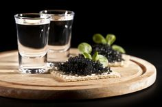 Chilled Vodka and Caviar