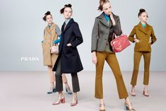 Prada Womenswear Fall/Winter 2015 Advertising Campaign / Photography by Steven Meisel. Film Direction by DJA and Ujin Lin. Fashion Tv, Trendy Fashion, Autumn Fashion, Blue Fashion, Style Fashion, Fashion Beauty, Steven Meisel, Donatella Versace, Fashion Advertising