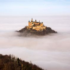 The floating castle. Location : Hohenzollern Castle Bisingen Germany Photo by : Robin Holler #Places_wow by placeswow