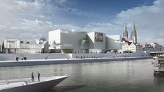 Hans Hollein & Partner designed a proposal for the New Bavarian History Museum located in Regensburg, Germany. According to them: The new Museum of Bavarian history is a didactic sculpture in urban space narrating the past and future, rooted in the traditions of the preceding and coming generations. More images and description after the break.