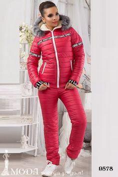 Лыжный костюм 9578. Лыжные костюмы и комбинезоны оптом по низким ценам Red Leather, Leather Jacket, Winter Suit, Suits, Sexy, Jackets, Action, Studded Leather Jacket, Down Jackets